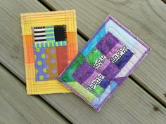 I LOVE these Quilted Fabric Post Cards!  $8.00, via Etsy.