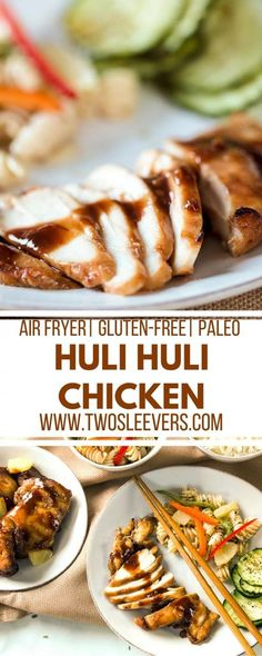 Use your Air Fryer to make this amazing Hawaiian grilled Huli Huli Chicken recipe! Gluten Free Recipes For Dinner, Primal Recipes, Paleo Dinner, Indian Food Recipes, Real Food Recipes, Cooking Recipes, Yummy Recipes, Dinner Recipes, Ethnic Recipes