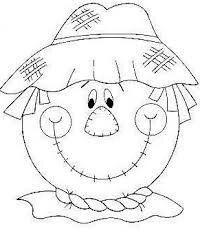 3 Halloween Infantil, Moldes Halloween, Manualidades Halloween, Adornos Halloween, Fall Coloring Pages, Halloween Coloring Pages, Coloring Sheets, Coloring Books, Scarecrow Face