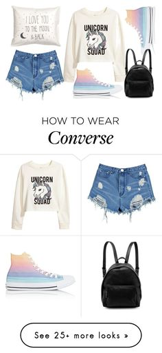 """Unicorn"" by nikol-139 on Polyvore featuring H&M, Boohoo, Converse and STELLA McCARTNEY"