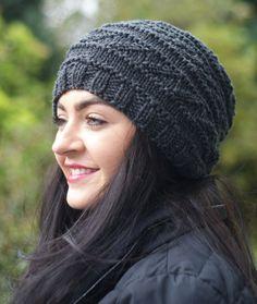 Women s Hat Cashmere Hat Silk Dark Grey Charcoal by Reginasknits Cashmere  Hat 07df5827df2