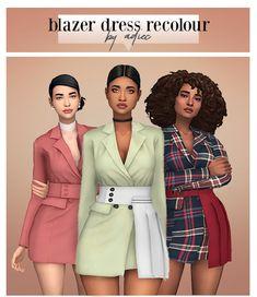 (Ronasims) Blazer Dress RC by Adiec
