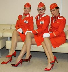 russian aeroflot stewardess