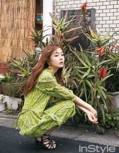 Baek Jin Hee struts her stuff for the upcoming May issue of Instyle and we think she looks amazing. Baek Jin Hee, Empress Ki, Short Legs, Korean Actresses, Singer, Cute, Kimchi, Style, Dolls