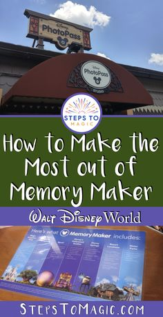 Memory Maker is a product that you can buy at Walt Disney World, which gives you unlimited digital Photopass photos captured throughout the resort by way of photographers, on-ride photos and so many more opportunities. Disney World Vacation Planning, Walt Disney World Vacations, Disney Planning, Vacation Planner, Disney Resorts, Trip Planning, Disney World Tips And Tricks, Disney Tips, Disney Fun