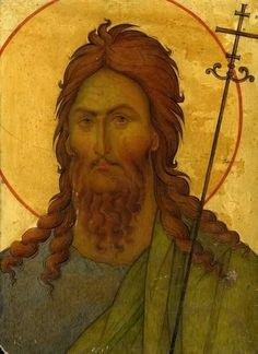 Byzantine Icons, Byzantine Art, Greek Icons, Russian Icons, The Monks, John The Baptist, Orthodox Icons, Sacred Art, Christian Art