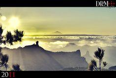Roque Nublo vs Teide HDR