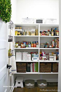 New Kitchen Pantry Ideas – pantry redo Kitchen Pantry Design, Kitchen Tops, Diy Kitchen, Kitchen Decor, Kitchen Ideas, Kitchen Layout, Kitchen Storage, Pantry Organization, Pantry Ideas