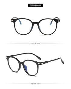 b4f259f9cf1dd Yooske Women Glasses Frame Men Anti Blue Light Eyeglasses Frame Vintage  Round Clear Lens Glasses Optical 1001