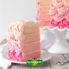 If you are looking for the perfect dessert to spoil mom this Mother's Day then look no further than this Pink Ombre Rosette Cake with Buttercream Rosettes. Fun Baking Recipes, Sweet Recipes, Yummy Recipes, Cake Recipes, Ombre Rosette Cake, Pink Ombre Cake, Butter Cupcake Recipe, Butter Cupcakes, Shower Cake