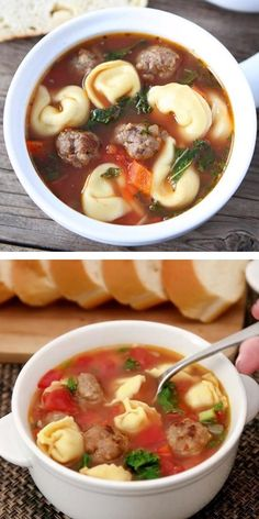 Italian Sausage Tortellini Soup, Cheese Tortellini Soup, Comfort Food List, Soup Recipes, Cooking Recipes, Edible Food, International Recipes, Easy Healthy Recipes, Thanksgiving Recipes