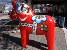 Dala horse factory in Lindsborg, Kansas
