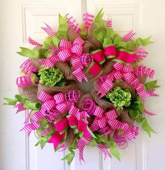 valentine mesh wreaths - Google Search