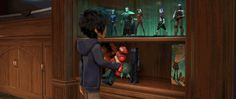 Did You Spot These Easter Eggs in Big Hero 6? Fred and Hiro are obviously fans of Hero's Duty from Wreck-it Ralph. Yes, that is a Cy-Bug. You can find another one Hiro's room.   [For more Disney news, tips, secrets, facts, pics and more, please visit my Disney blog:  http://grown-up-disney-kid.tumblr.com/ ]