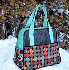 Weekender Bag by Leanne She Can Quilt, pattern from Amy Butler