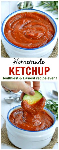 Homemade ketchup - my toddler eats anythings dips in this ! Sugar free only veggies! Easy for moms to makes and taste like heinz ketchup, really! More