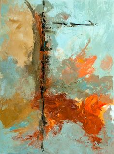 Kit Hevron Mahoney Fine Art: KMA2734 Soaring Dreams (30x40 abstract acrylic)