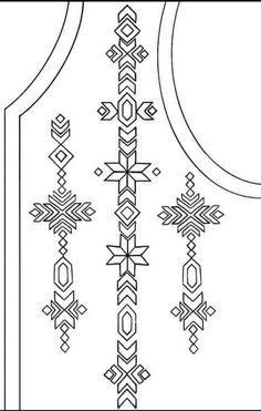 Phulkari Embroidery, Embroidery On Kurtis, Kurti Embroidery Design, Tambour Embroidery, Embroidery Neck Designs, Hand Embroidery Videos, Embroidery Fashion, Hand Embroidery Patterns, Embroidery Stitches