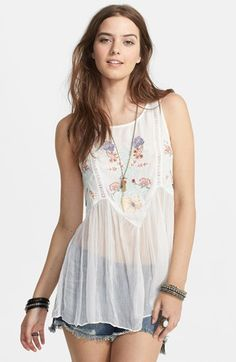 Free People 'In the Free World' Embroidered Top | Nordstrom
