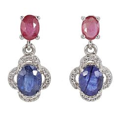 Sarotta Jewelry Lady rose saphir blanc plaqué or Boucles d/'oreilles Créoles NEW EARINGS