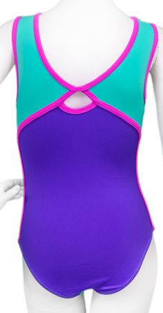 asics swimwear womens purple