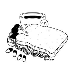 Breakfast Included Art Print by Henn Kim