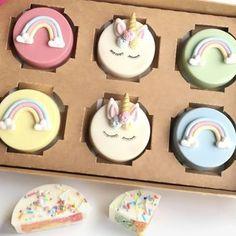 unicorn and rainbow cakelet gift box by popalicious cake pops | notonthehighstreet.com