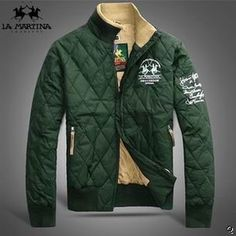 Offers La Martina Men quilted down jackets green hot sell : La Martina Polo Shirts