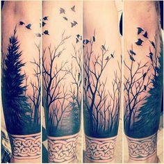 Cool tree, birds tat~