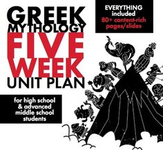 Looking for a Greek mythology unit for an older audience? Take those beloved mythological stories and ramp them up with this MASSIVE bundle that includes FIVE WEEKS OF COMPLETE LESSON MATERIALS designed for advanced middle school students and high school freshmen/sophomores as they connect their studies of Greek mythology to our modern world and their own lives.