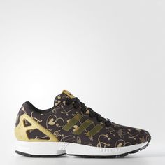 Adidas Originals ZX Flux Shoes Core Black/Metallic Gold/Running White - One of my new favorite sneakers to wear!