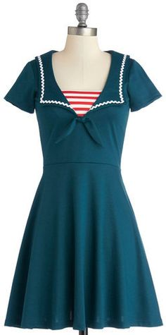Rock Steady/Steady Clothing In Savvy Sailor Dress