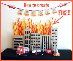 FIRE Tutorial1 Five Alarm Guest Dessert Feature {& Tissue Fire Backdrop Tutorial} or blue and green for seaweed