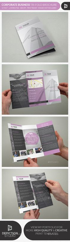 Corporate Business Tri-fold Brochure Template PSD #design Download: http://graphicriver.net/item/corporate-business-trifold-brochure/13426718?ref=ksioks