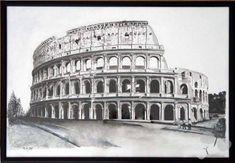 obraz malovany tusom, perom,temperou. predane za 105€ moznost nakreslit rovnaky alebo podobny podla fota