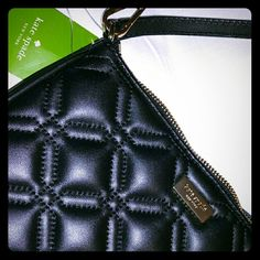 NWT Kate Spade Astor Quilted convertible handbag Your NEW go-to little black bag! So versatile- wear as a crossbody bag, over the shoulder, or as a wristlet. Hot pink jacquard lining w/ card slots. kate spade Bags