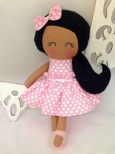 Rag Dolls are so lovable! This is a 15 inch Cloth Doll that is part of the Dressy Doll collection from Sew Many Pretties.    This is plush doll