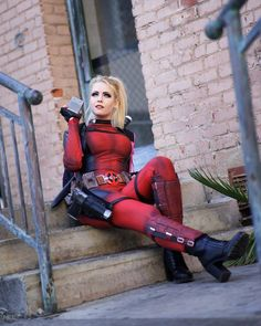 Rule 63 Deadpool Cosplay by Maid Of Might Cosplay Deadpool Cosplay, Lady Deadpool, Cosplay Characters, Comic Book Characters, Comic Character, New Mutants 98, Breaking The Fourth Wall, Rule 63, American Comics