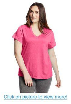 Hue Sleepwear Women's Plus-Size Plus Short Sleeve Basic Vneck Pajama Top