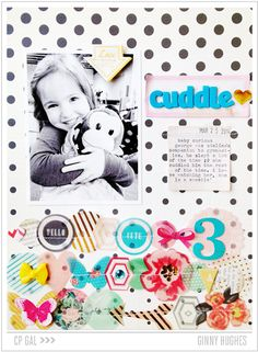 #papercraft #scrapbook #layout  Crate Paper | Ginny Hughes | Cuddle Layout