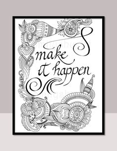 printable zentangle motivational coloring quotes adult coloring pages by smilyshuart