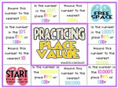 FREE: Practicing Place Value Game via Dots-n-Spots - In this download you will find: *2 math game boards focusing on place value practice for intermediate grades *1 game board focuses on practicing adding and subtracting numbers to the hundred thousands. *1 game board focuses on identifying and rounding numbers to the hundred thousands. *32 game cards to be used for either/both games. *Instructions on how to prepare and how to play the games.