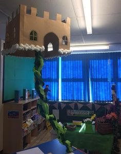 Set the Stage to Engage - Writing centre for Jack and the Beanstalk Traditional Tales, Traditional Stories, Classroom Displays, Classroom Themes, Library Displays, Preschool Garden, Preschool Crafts, Fairy Tale Activities, Fairy Tales Unit