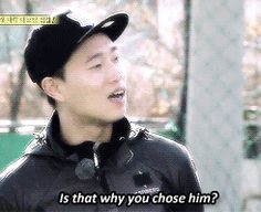 """He looks like you! His nickname is Kang Gary!"" ""Is that why you chose him?"" Monday Couple, Running Man"