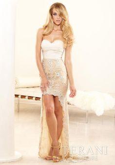Terani Lace Skirt Dress P3152