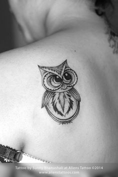 She was looking for a cute baby owl but not a realistic one. Description from alienstattoos.com. I searched for this on bing.com/images