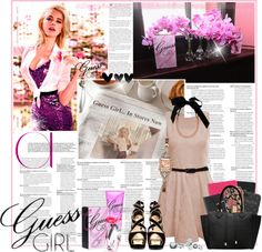 """""""Guess Girl"""" by mfeliciano ❤ liked on Polyvore"""