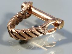 Vintage 50s Gold Tone Cuff Links French Gift For by ThisisParis, $59.00