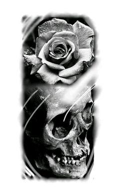 Rose Tattoos, Body Art Tattoos, Sleeve Tattoos, Portrait Tattoos, Tatto Skull, Skull Art, Tattoo Sketches, Tattoo Drawings, Future Tattoos