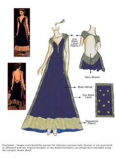 Velvet Floor Length Anarkali Suit